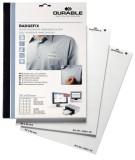 Durable Selbstklebe-Namensschild BADGEFIX, Acetatseide, weiß, 60 x 30 mm, 540 Schilder weiß
