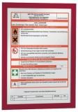 Durable Magnetrahmen DURAFRAME® - A4, 322 x 236 mm, rot ROT: Alarmpläne, Brandschutzregeln rot A4