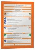 Durable Magnetrahmen DURAFRAME® - A4, 322 x 236 mm, orange ORANGE: Gefahrenhinweise/ Gefahrstoffe