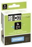 Dymo® Schriftband D1, Kunststoff, laminiert, 7 m x 24 mm, Schwarz/Weiß Schriftband Standardetikett