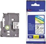 Brother TZe-121 Schriftbandkassette - laminiert, 9 mm x 8 m, schwarz auf farblos Schriftband 9 mm
