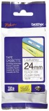 Brother TZe-151 Schriftbandkassette - laminiert, 24 mm x 8 m, schwarz auf farblos Schriftband 24 mm