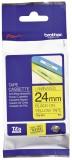 Brother TZe-651 Schriftbandkassette - laminiert, 24 mm x 8 m, schwarz auf gelb Schriftband 24 mm 8 m