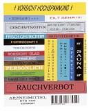 Brother TC-101 Schriftbandkassetten, laminiert, 12 mm x 7,7 m, schwarz auf farblos Schriftband 12 mm