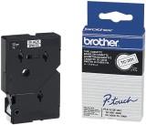 Brother TC-201 Schriftbandkassetten, laminiert, 12 mm x 7,7 m, schwarz auf weiß Schriftband 12 mm
