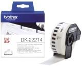 Brother DK-Endlosetiketten Papier-Etiketten 12 mm x 30,48 m weiß Thermoetiketten 12 mm x 30,48 m