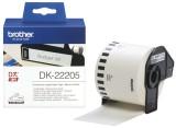 Brother DK-Endlosetiketten Papier-Etiketten 62 mm x 30,48 m weiß Thermoetiketten 62 mm x 30,48 m