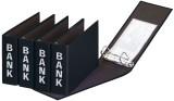 Pagna® Bankordner Color-Einband - A5 , 50 mm, Color Einband, schwarz Bankordner A5 50 mm schwarz