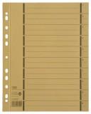 Elba Trennblätter mit Perforation - A4 Überbreite, gelb, 100 Stück A4 Überbreite gelb 240 mm 10