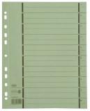 Elba Trennblätter mit Perforation - A4 Überbreite, grün, 100 Stück A4 Überbreite grün 240 mm