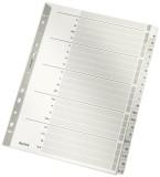 Leitz 4328 Register - A-Z, Karton, A4, 20 Blatt, grau volldeckend Register A4 A - Z Universallochung
