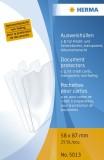 Herma 5013 Ausweishüllen 58x87 mm für Kredit-/Scheckkarte Ausweishülle Steckhülle 58 x 87 mm