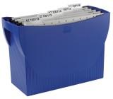 HAN Hängemappenbox SWING, für 20 Hängemappen, blau SWING: ohne Deckel, mit Griffmulden blau