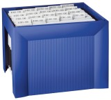 HAN Hängemappenregistratur KARAT, für 35 Hängemappen, extra stabil, blau Hängemappenbox blau