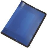 Q-Connect® Fächermappe - 13 Taschen, 250 Blatt, PP, transluzent blau 13 transluzent blau A4 330 mm