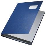 Leitz 5701 Unterschriftsmappe - 10 Fächer, PP kaschiert, blau Unterschriftsmappe 10 blau 240 mm