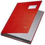 Leitz 5701 Unterschriftsmappe - 10 Fächer, PP kaschiert, rot Unterschriftsmappe 10 rot 240 mm