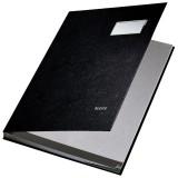 Leitz 5701 Unterschriftsmappe - 10 Fächer, PP kaschiert, schwarz Unterschriftsmappe 10 schwarz