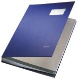 Leitz 5700 Unterschriftsmappe - 20 Fächer, PP kaschiert, blau Unterschriftsmappe 20 blau 240 mm