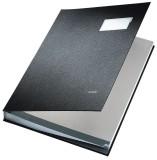 Leitz 5700 Unterschriftsmappe - 20 Fächer, PP kaschiert, schwarz Unterschriftsmappe 20 schwarz