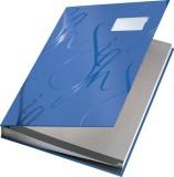 Leitz 5745 Unterschriftsmappe Design, 18 Fächer, blau Einband mit seidenmatter Laminierung 18 blau