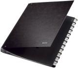 Leitz 5812 Pultordner 1-12, 12 Fächer, Hartpappe, schwarz Pultordner 12 1 - 12 schwarz