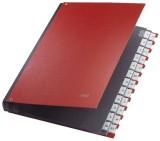 Leitz 5924 Pultordner A-Z, 24 Fächer, PP, rot Pultordner 24 A - Z rot