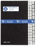 Pagna® Pultordner 1-31 und 1-12 / Jan.-Dez. - 44 Fächer, Hartpappe, schwarz Pultordner 44 schwarz