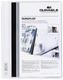 Durable Angebotshefter DURAPLUS®, strapazierfähige Folie, A4+, weiß Schnellhefter weiß 245 mm