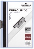 Durable Klemm-Mappe DURACLIP® 30, DIN A4, blau Klemmmappe transparent/blau bis zu 30 Blatt A4