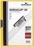 Durable Klemm-Mappe DURACLIP® 30, DIN A4, gelb Klemmmappe transparent/gelb bis zu 30 Blatt A4
