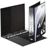 Leitz 4202 Ringbuch SoftClick, A4, mit Taschen, 4 Ringe, 30 mm, schwarz Präsentationsringbuch A4 4