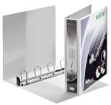 Leitz 4203 Ringbuch SoftClick, A4, mit Taschen, 4 Ringe, 40 mm, weiß Präsentationsringbuch A4 4