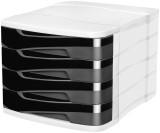 Ellypse by Cep Schubladenbox Ellypse - A4, 4 halboffene Schubladen, schwarz Schubladenbox schwarz A4