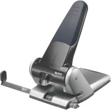 Leitz 5180 Registraturlocher bis A3, 6,5 mm, mit Anschlagschiene, schwarz Kraftlocher 63 Blatt