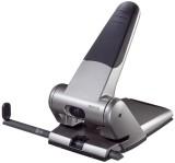 Leitz 5180 Registraturlocher bis A3, 6,5 mm, mit Anschlagschiene, silber Kraftlocher 63 Blatt silber