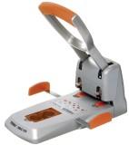 Rapid® Superlocher HDC150, Grauguss, 150 Blatt, silber/orange Kraftlocher 150 Blatt silber/orange