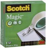 Scotch® Klebeband Magic 810, Zellulose Acetat, unsichtbar, beschriftbar, 10 m x 19 mm Klebeband