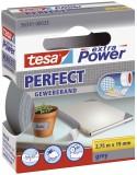 tesa® Gewebeklebeband extra Power Gewebeband, 2,75 m x 19 mm, grau Gewebeband 19 mm x 2,75 m grau