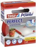 tesa® Gewebeklebeband extra Power Gewebeband, 2,75 m x 19 mm, rot Gewebeband 19 mm x 2,75 m rot