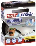 tesa® Gewebeklebeband extra Power Gewebeband, 2,75 m x 19 mm, schwarz Gewebeband 19 mm x 2,75 m