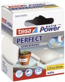 tesa® Gewebeklebeband extra Power Gewebeband, 2,75 m x 38 mm, weiß Gewebeband 38 mm x 2,75 m weiß
