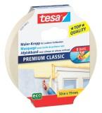 tesa® Papier-Klebeband Maler-Krepp Classic, 50 m x 19 mm, beige Klebeband 19 mm 50 m