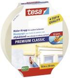 tesa® Papier-Klebeband Maler-Krepp Classic, 50 m x 30 mm, beige Klebeband 30 mm 50 m