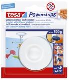 tesa® Powerstrips® Deckenhaken - ablösbar, Tragfähigkeit 500g, rund, weiß Deckenhaken 500 g