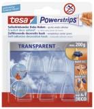 tesa® Powerstrips® Deco-Haken - ablösbar, Tragfähigkeit 200 g, transparent Haken 200 g 30 mm