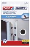 tesa® On & Off Klettpunkte - Ø 16 mm, schwarz,selbstklebend Klettfix Klettpunkte schwarz
