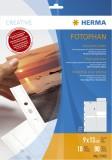 Herma 7583 Fotosichthüllen 90 x 130 mm hoch weiß 10 Hüllen Fotosichthülle 9 x 13 weiß PP-Folie