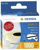 Herma 1051 Vario Nachfüllrolle, fest haftend, 1000 Klebestücke Kleberollernachfüllung 12 mm 13 mm