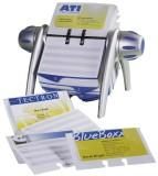 Durable Visitenkartenkartei VISIFIX® FLIP VEGAS, metallic silber Kartengröße: 104 x 72 mm